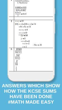 MATHS KCSE TOPICAL (QUESTIONS + ANSWERS) FORM 1- 4 screenshot 4