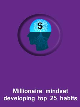 Millionaire mindset developing habits poster