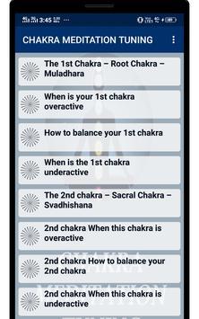 CHAKRA MEDITATION TUNING screenshot 1