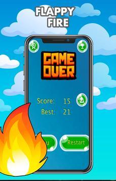 Flappy fire - Jump Game Online screenshot 11