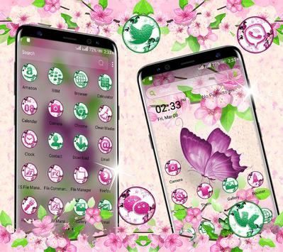 Butterfly Flower Launcher Theme screenshot 1
