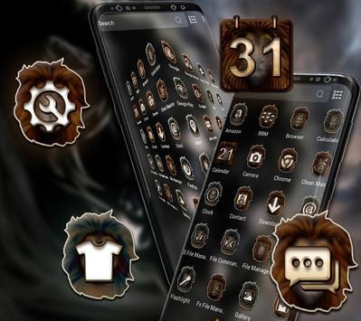 Angry Lion Launcher Theme screenshot 1