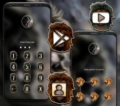 Angry Lion Launcher Theme screenshot 2