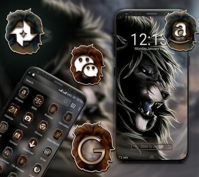 Angry Lion Launcher Theme screenshot 4
