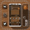 Leather Launcher Theme أيقونة