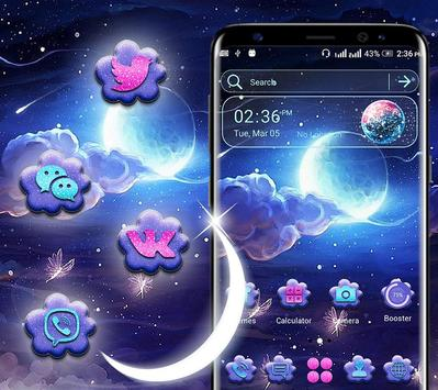 Night Moon Launcher Theme poster