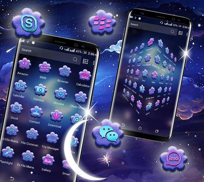 Night Moon Launcher Theme screenshot 1