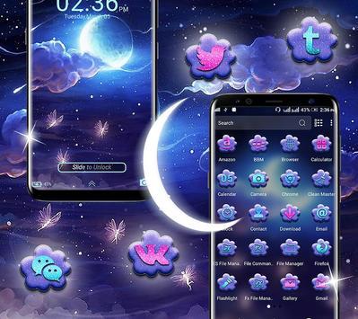 Night Moon Launcher Theme screenshot 2