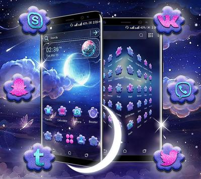 Night Moon Launcher Theme screenshot 4
