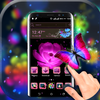 Pink Flower Launcher Theme icono