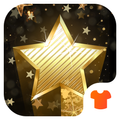 Golden Star Theme - Night Sky Wallpaper & Icons