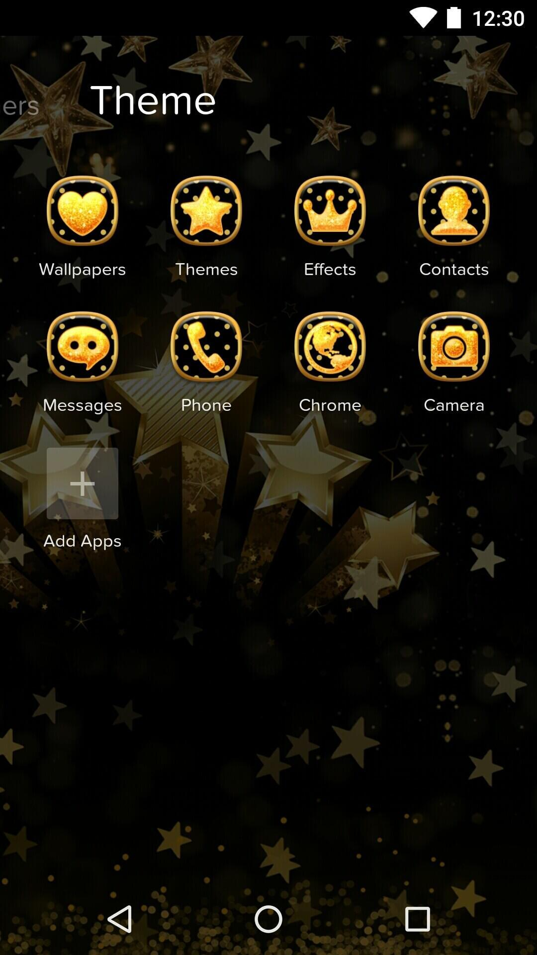 Golden Star Theme Night Sky Wallpaper Icons For Android