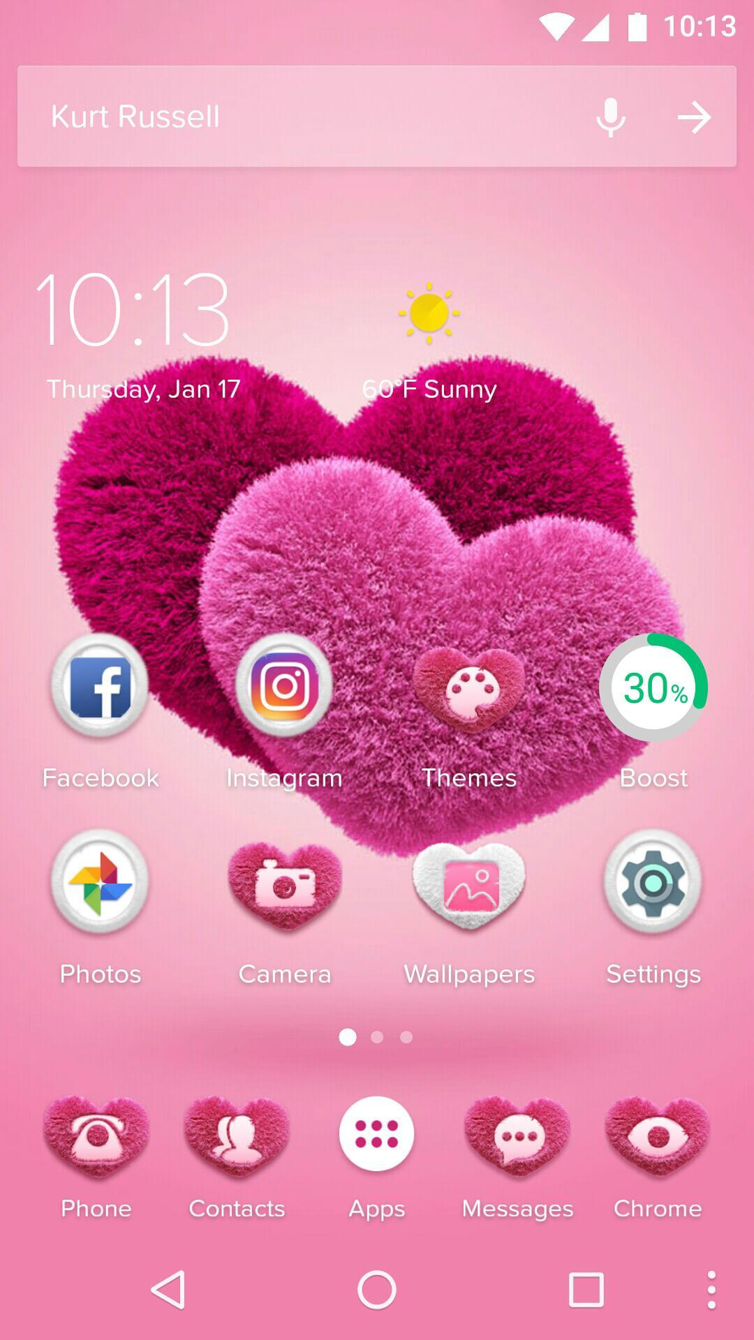 Pink Hearts 2018 Love Wallpaper Theme For Android Apk