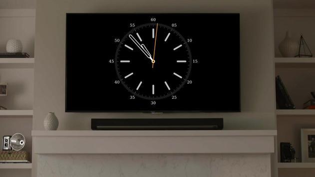 Часы на Chromecast   ⏰ Виджет часов для ТВ скриншот 1