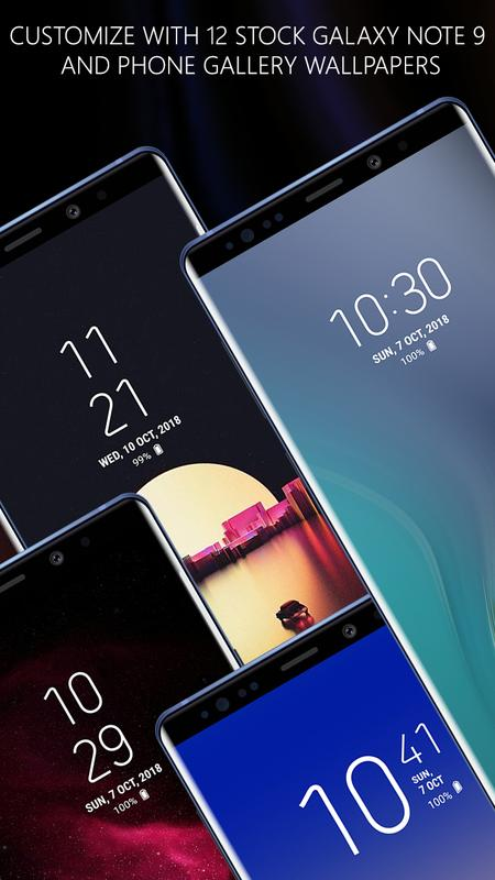 Note 9 Lockscreen S9 Galaxy Note 9 Lock Screen For Android Apk