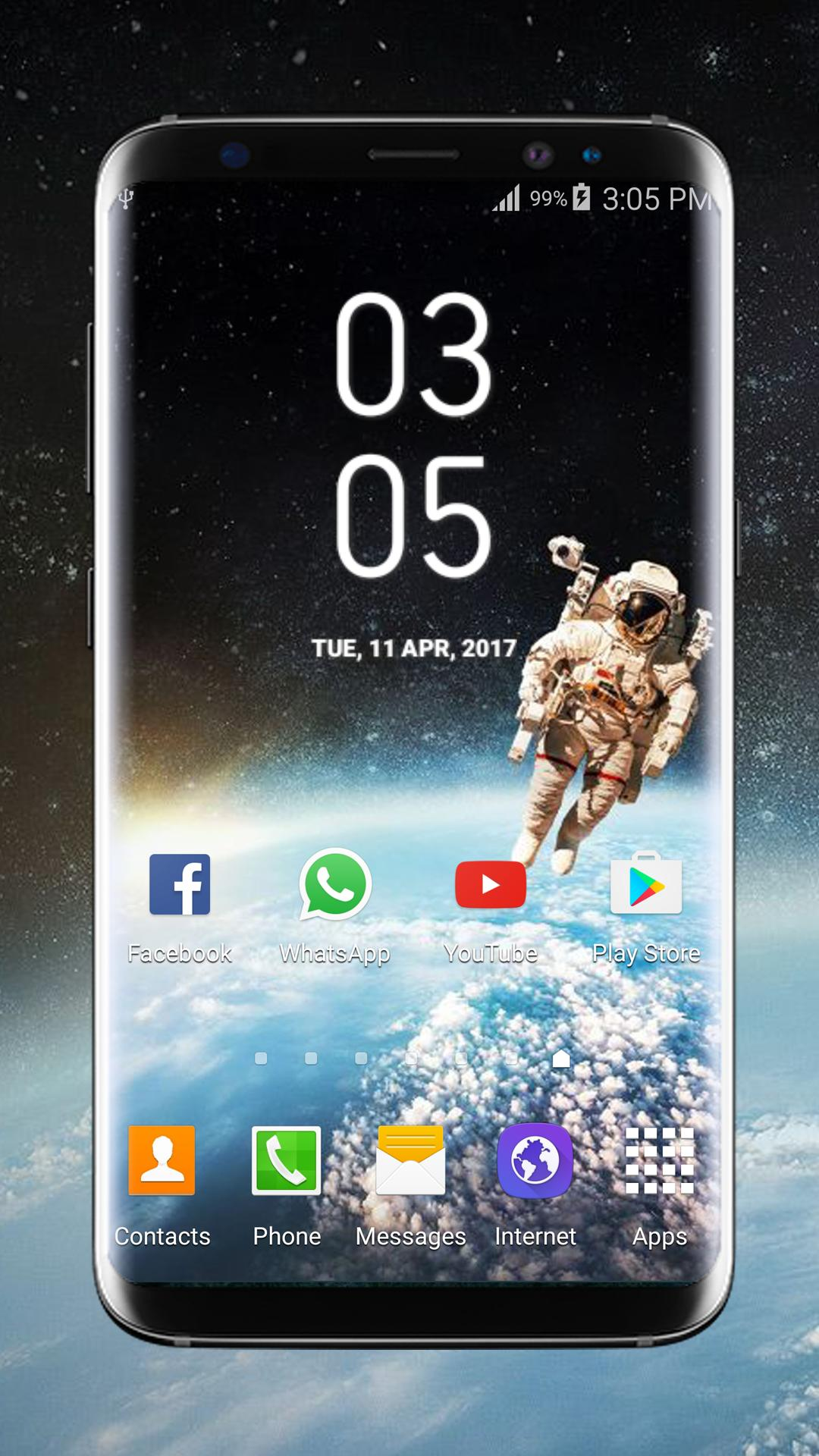 Galaxy S8 Plus Digital Clock Widget for Android - APK Download