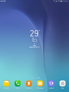 weather widget of galaxy s8 plus transparent apk