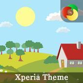 Hello Spring | Xperia™ Theme (sun, rain, clouds) icon