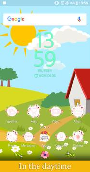 Hello Spring | Xperia™ Theme (sun, rain, clouds) poster