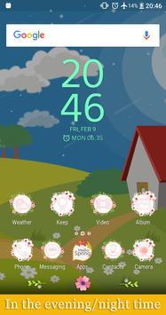 Hello Spring | Xperia™ Theme (sun, rain, clouds) screenshot 1