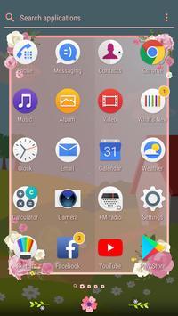 Hello Spring | Xperia™ Theme (sun, rain, clouds) screenshot 4
