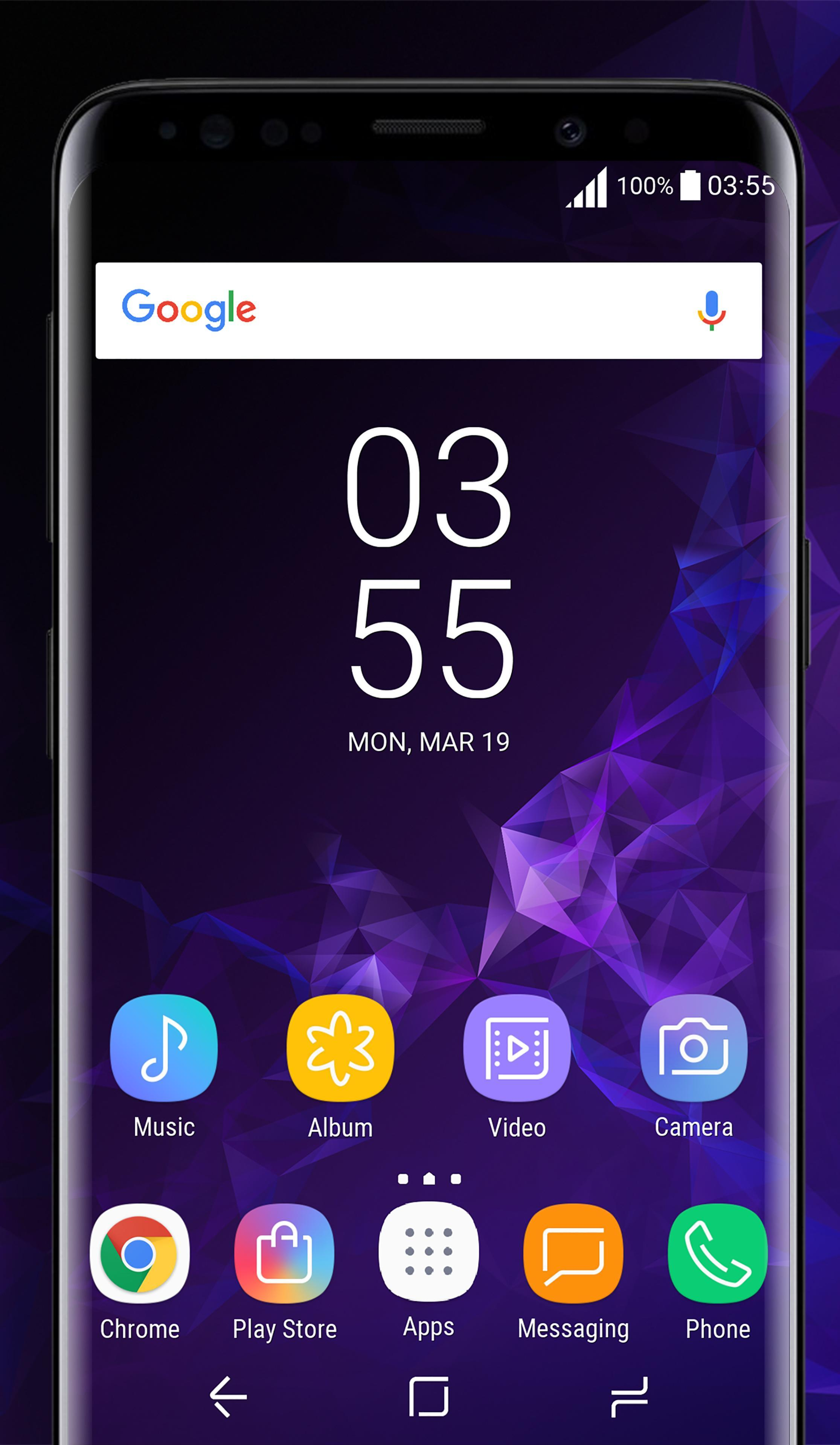 Galaxy S9 purple Theme Xperia™ for Android - APK Download