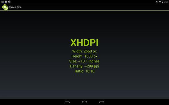 Screen Size and Density screenshot 1