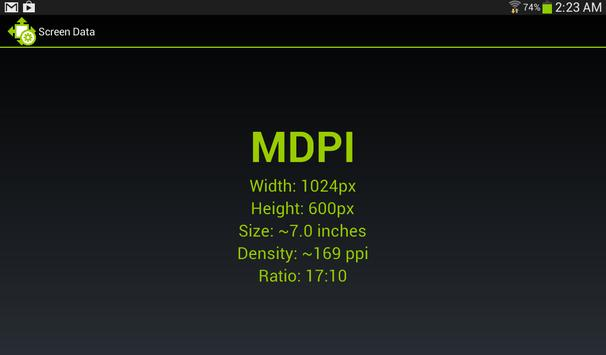 Screen Size and Density screenshot 2