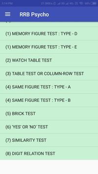 RRB ALP Psycho / Aptitude Test (Stage-3 Exam) screenshot 1