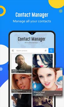 Contact manager: Backup, sync, restore & merge poster