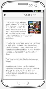 Quiz It Up! Logo memory game on facts of Malaysia screenshot 3