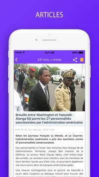 Actualités  et dernières nouvelles du Cameroun screenshot 2