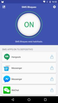 SMS Bloqueo Poster