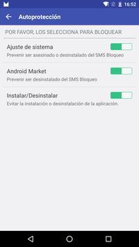 SMS Bloqueo captura de pantalla 3