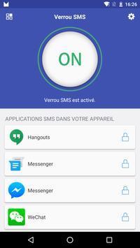 Verrouillage SMS Affiche