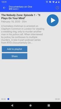 RTÉ Radio Documentary on One скриншот 1