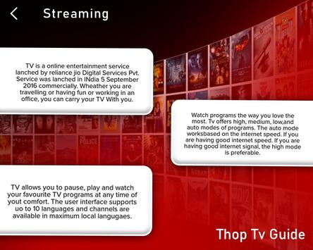 Live All TV Channels, Movies, Free Thop TV Guide स्क्रीनशॉट 6