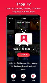 Thop TV- ThopTV Live Cricket, Thop TV Movies Guide plakat