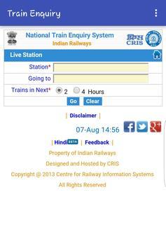 Train Enquiry screenshot 2