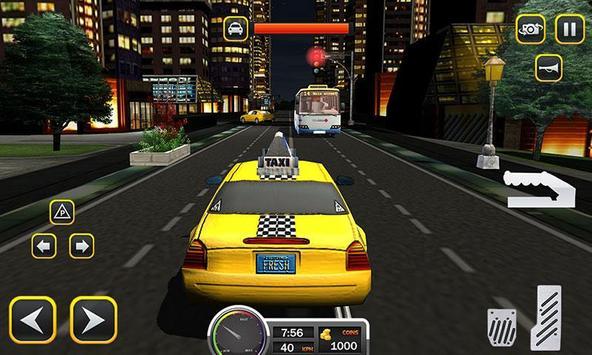 Taxi Driver 2017 - USA City Cab Driving Game screenshot 4