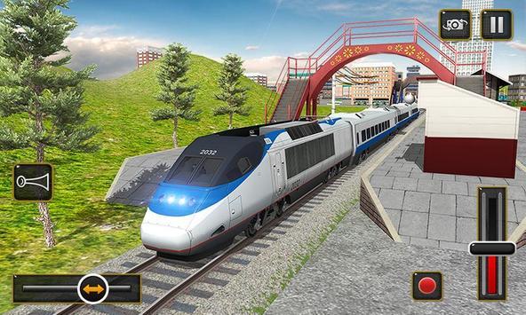 ट्रेन सिम्युलेटर 2017 - यूरो रेलवे ट्रैक ड्राइविंग स्क्रीनशॉट 4