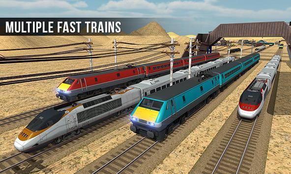 ट्रेन सिम्युलेटर 2017 - यूरो रेलवे ट्रैक ड्राइविंग स्क्रीनशॉट 5