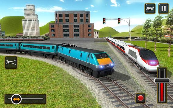 ट्रेन सिम्युलेटर 2017 - यूरो रेलवे ट्रैक ड्राइविंग स्क्रीनशॉट 9