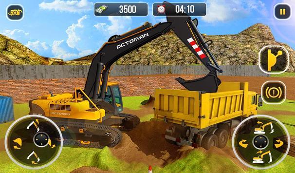 Ciężki koparka żuraw-budowa miasta sim screenshot 10