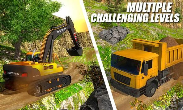 Ciężki koparka żuraw-budowa miasta sim screenshot 1