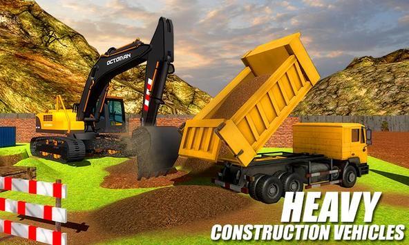 Ciężki koparka żuraw-budowa miasta sim screenshot 2