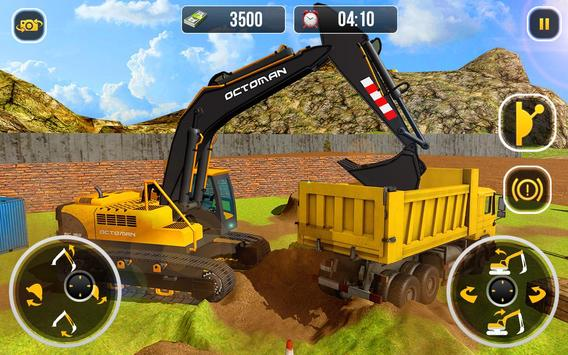 Ciężki koparka żuraw-budowa miasta sim screenshot 5