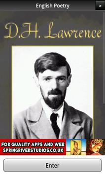 D. H. Lawrence Poems FREE poster