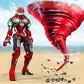 Futuristic Tornado Robot:Transformation Robot Wars