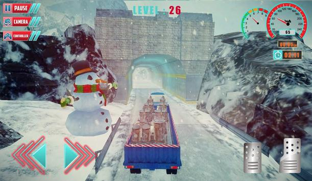 Chrismas Hill Climb Truck Driving screenshot 1